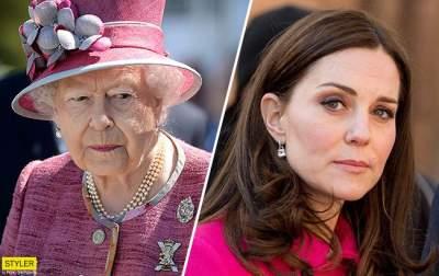 Кейт Миддлтон огорчает королеву Елизавету