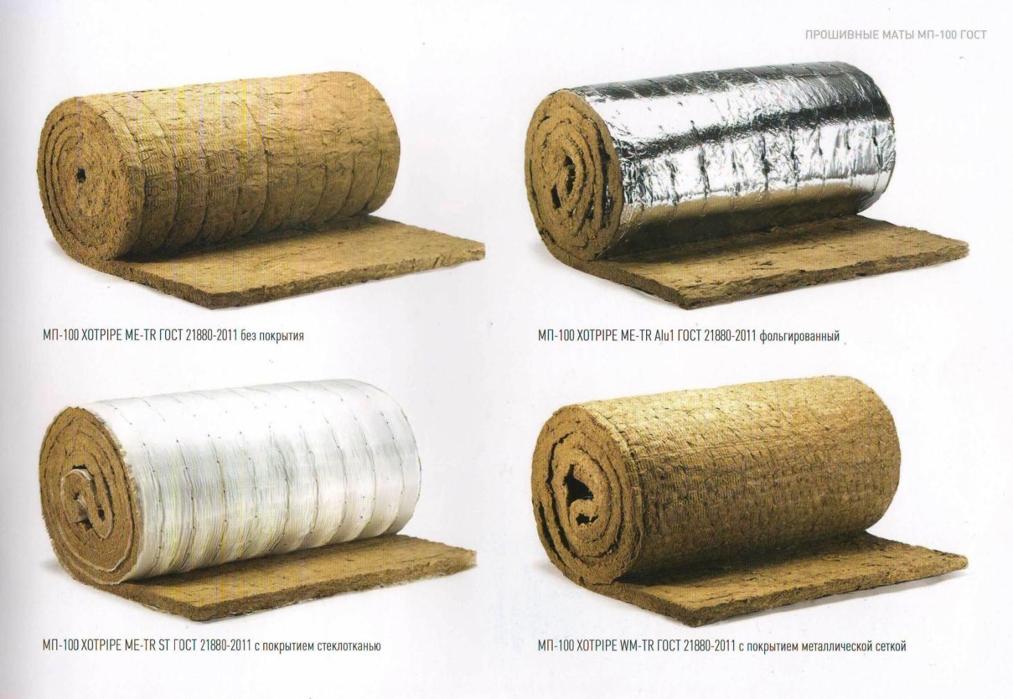 Ассортимент теплоизоляционных материалов для трубопроводов
