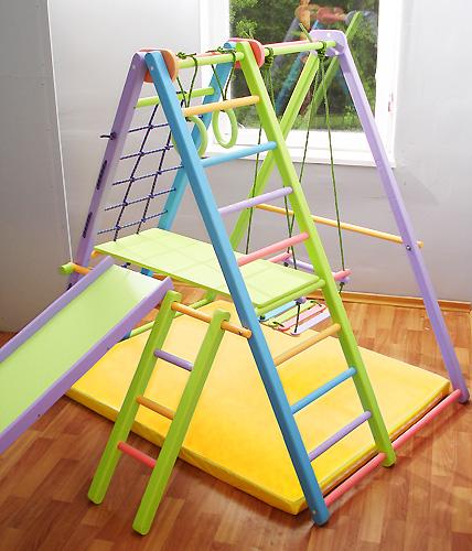 Детские спортивные уголки и комплексы со скидкой в «РикиТой»